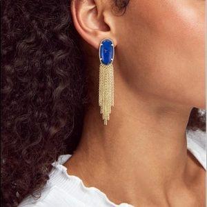 Kendra Scott Deanna Drop Cobalt Howlite Earrings